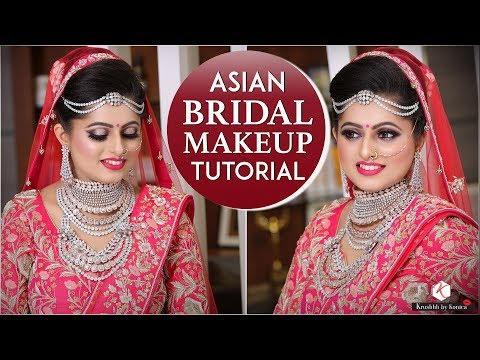 Beautiful Asian Bridal Makeup Tutorial   Glittery Makeup For Indian Brides   Krushhh By Konica