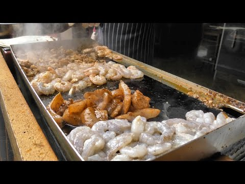 London Street Food. Shrimps And Fish Wrap Tasted In Borough Market