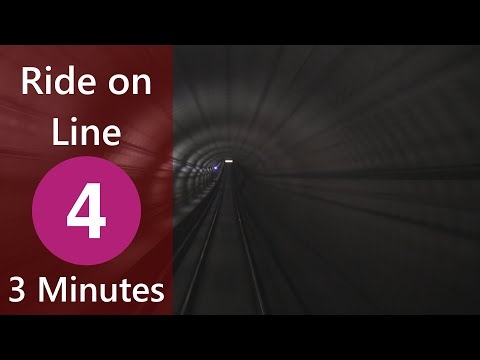 Ride on Line 4 (TTC) Sheppard to Don Mills Both Ways in 3 Minutes (Timelapse)