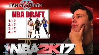 DRAFTING AN ALL STAR TEAM IRL AND THEN PLAYIN ON NBA2K17!!!