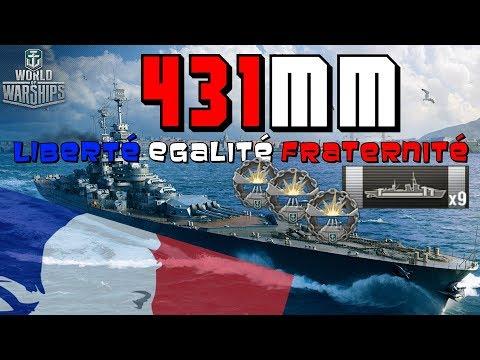 République POWER of 8 BIG Guns - Liberté, Egalité, Fraternité || World of Warships