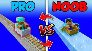 Minecraft NOOB vs. PRO : SWAPPED FASTEST TRAVEL in Minecraft (Compilation)