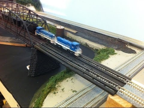 Model Railroad: Make a Transition Bridge. Kato – Atlas – Tomix Track.  Easy How To Tips.