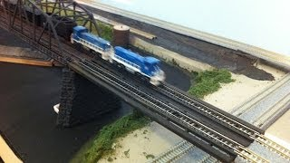Model Railroad: Make A Transition Bridge. Kato - Atlas - Tomix Track.  Easy How To Tips.