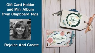 Two More Store-bought Chipboard Tag Projects
