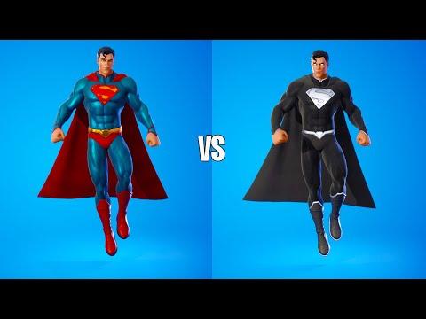 Superman Vs Black Superman Dance & Emotes Fight 100% Perfect Sync | Fortnite Battle Royale