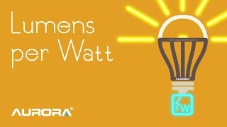 lumens per watt led efficacy aurora lighting presents