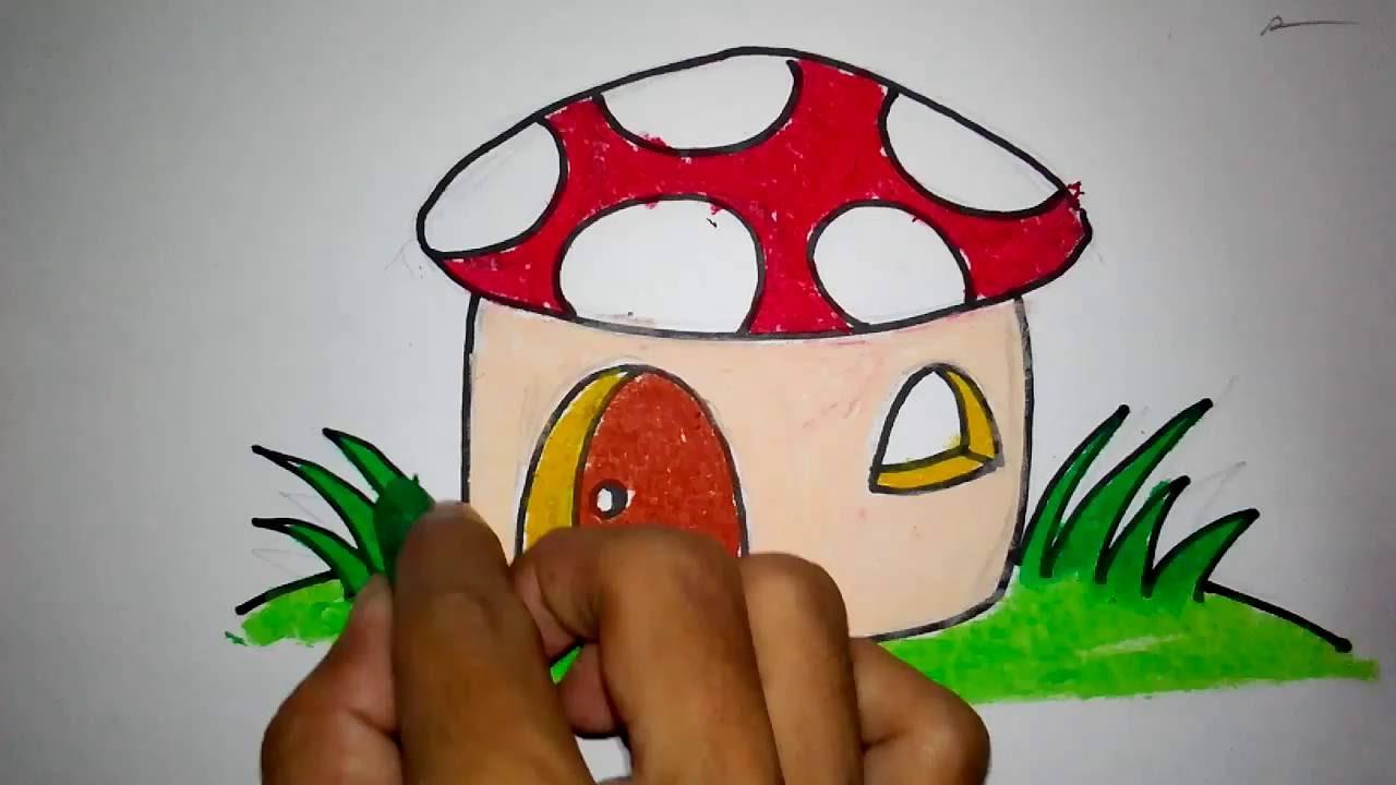 Menggambar Jamur Untuk Anak