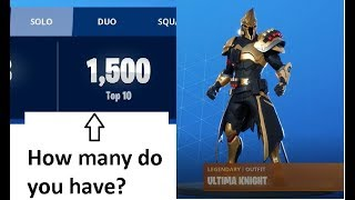 Fortnite - Ultima Knight Skin & Cridler gets his 1500th Solo Top 10.