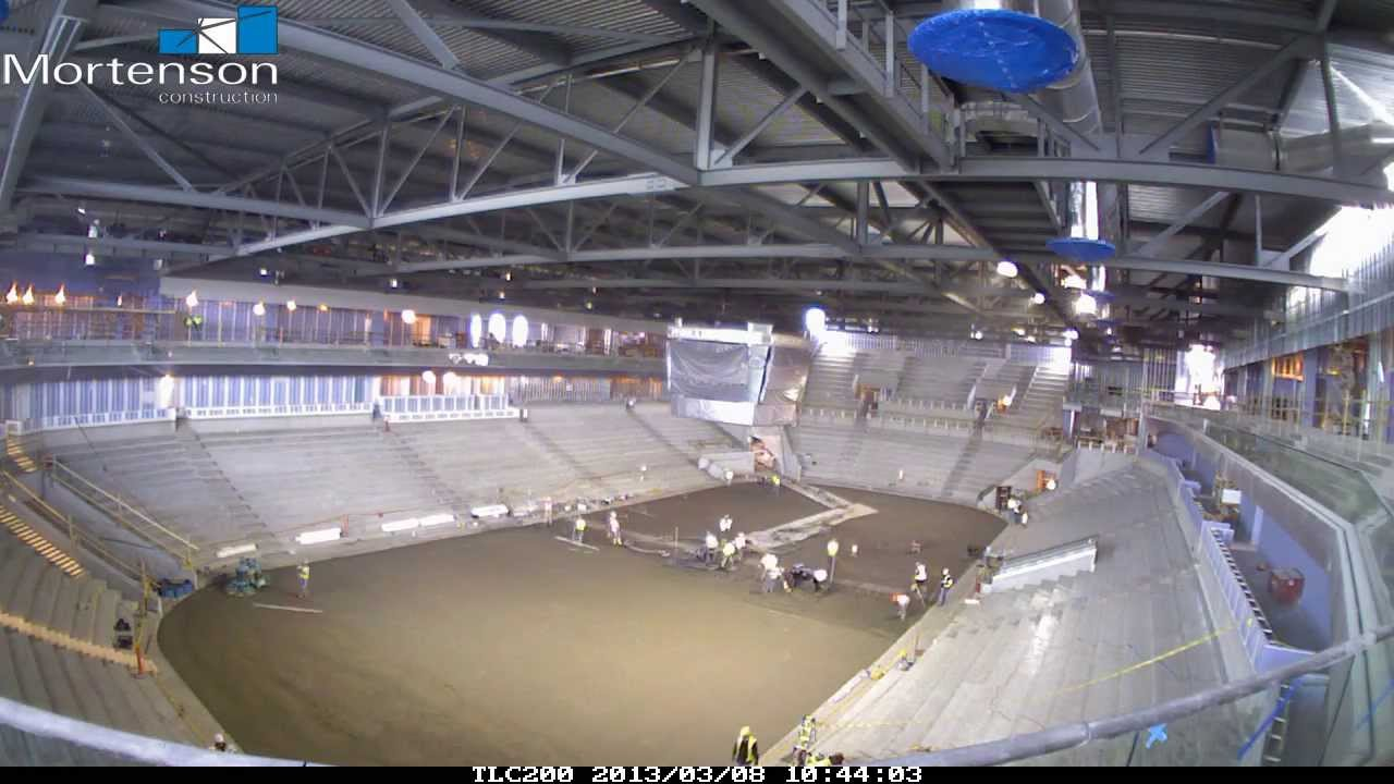 Pegula Ice Arena Ice Floor Slab Pour Time Lapse Youtube