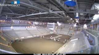 PEGULA ICE ARENA - ICE FLOOR SLAB POUR TIME LAPSE