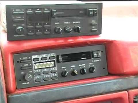 1992 Ford truck exact fit AMFM cassette radio and aircheck tape  YouTube