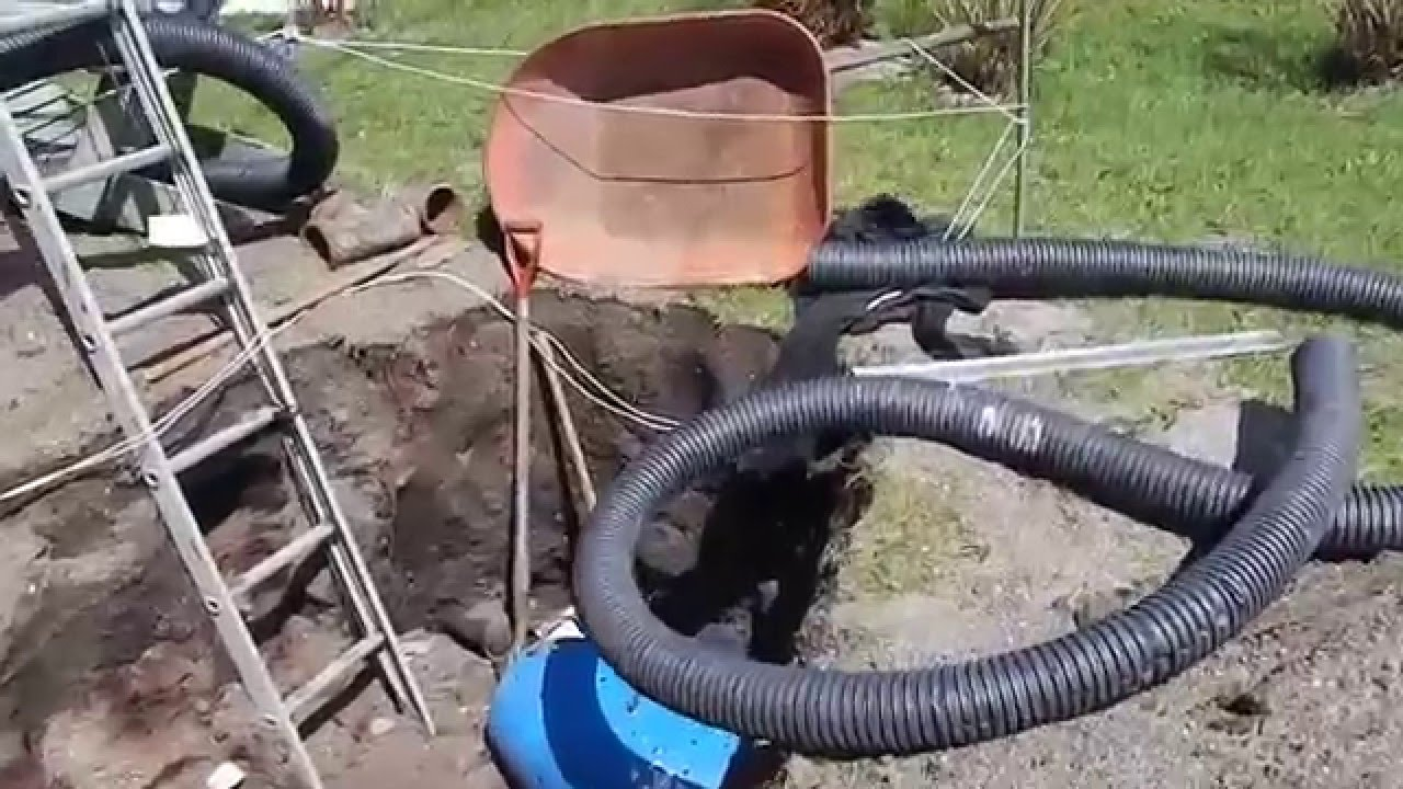 Open bottom diy french drain system part 5 old sewer pipe open bottom diy french drain system part 5 old sewer pipe uncovered solutioingenieria Images
