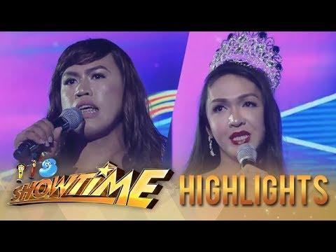 It's Showtime Miss Q & A: Maria Josefa Illanes Escoba faces the reigning queen Mitch Aranzamendez