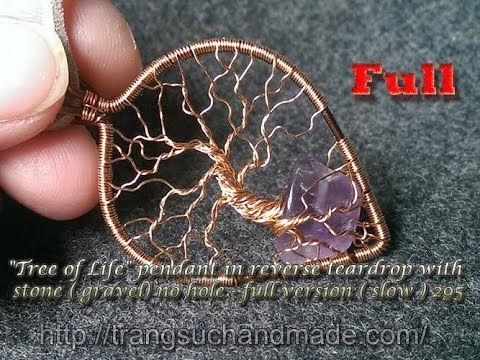 Quot Tree Of Life Quot Pendant In Reverse Teardrop With Stone