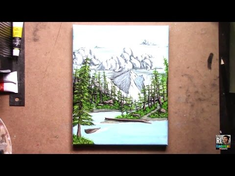 How to paint a landscape painting! Acrylic