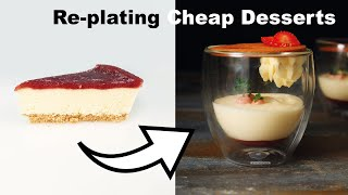 Plating Cheap Frozen Desserts into Gourmet Restaurant Food! How To Cook That Ann Reardon hacks