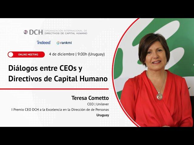 DCH Uruguay | Premio CEO DCH 2020 a Teresa Cometto, CEO de Unilever.