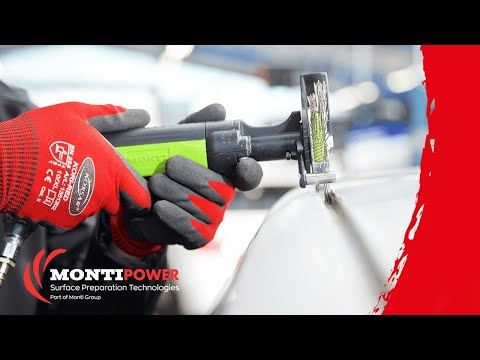 Removing corrosion from car body panels  MONTI Die Blaster®