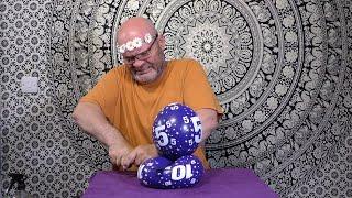 Bursting Purple Balloons Metal Ruler (NO EDITS) Tangobaldy™ Family Friendly Fun video