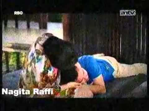 Kemesraan Raffi Ahmad dan Nagita, Tidur di pangkuan Nagita @ Pengantin Baru ANTV 1 November 2014