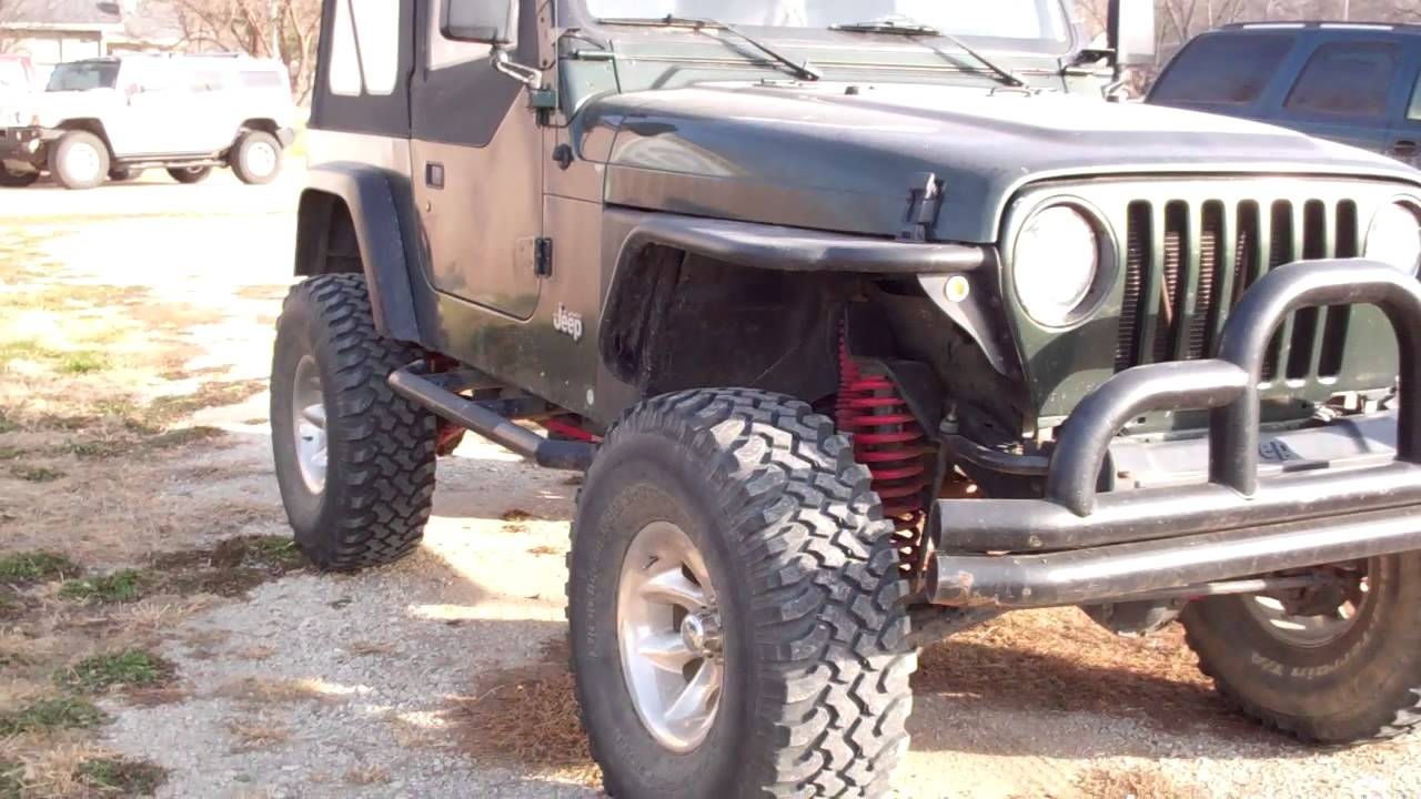 Lifted Jeep Wrangler - 6-inch skyjacker, 35-inch tires - YouTube