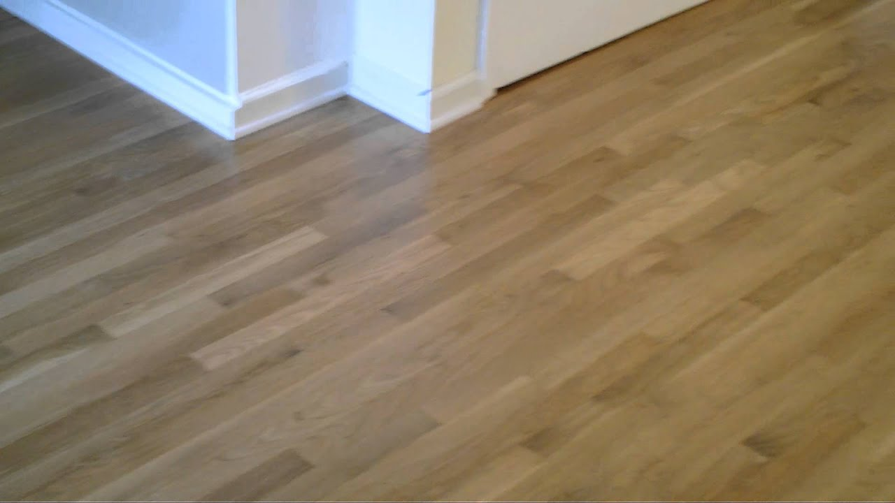 Natural Color When Refinishing White Oak Hardwood Floors