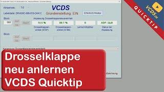 VCDS Quicktip: Drosselklappe Anlernen