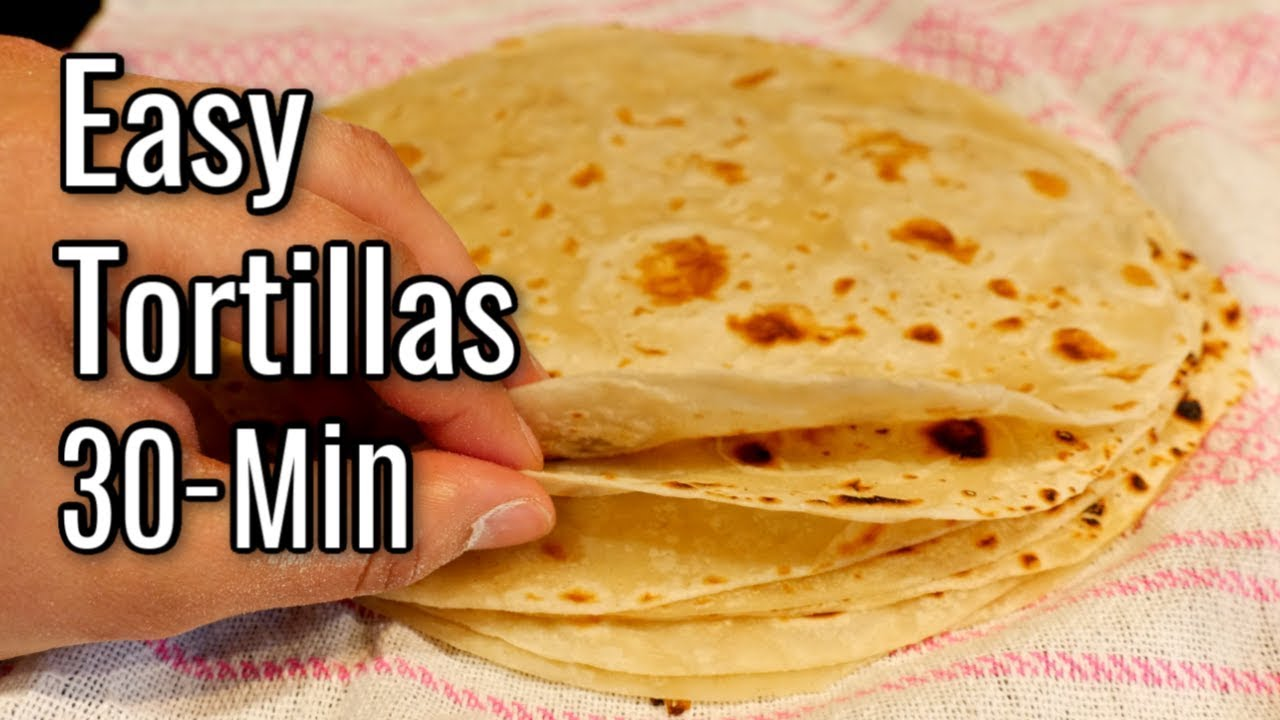 The Best Flour Tortillas Recipe In 30 Minutes Light Soft Flour Tortillas Youtube