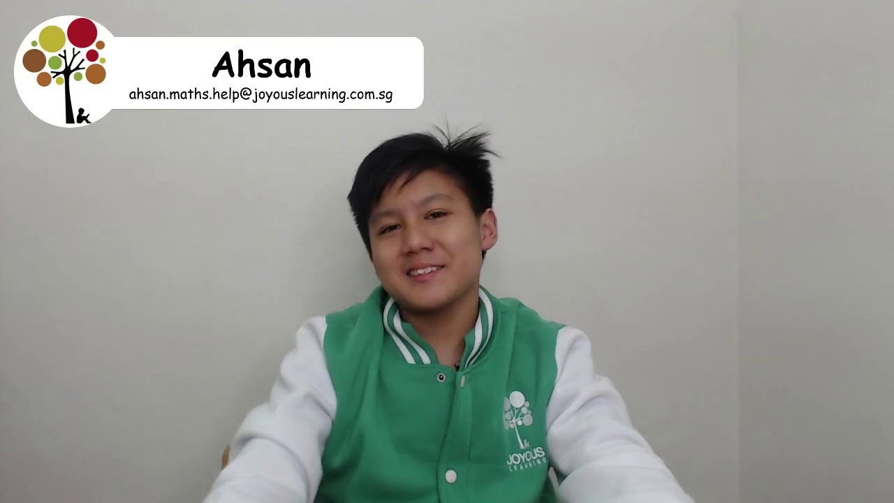 Ahsan Solves PSLE Maths Question in 2 Ways