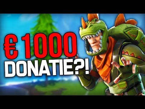 MIJN BESTE FORTNITE MOMENTEN & €1000 EURO DONATIE?!