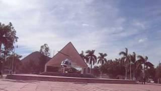 Aterrizaje de Helicóptero en la plazuela de San Blas Sinaloa