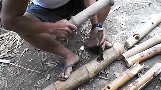 Making a  Bamboo Joint by Hand - Filipino Craftsman