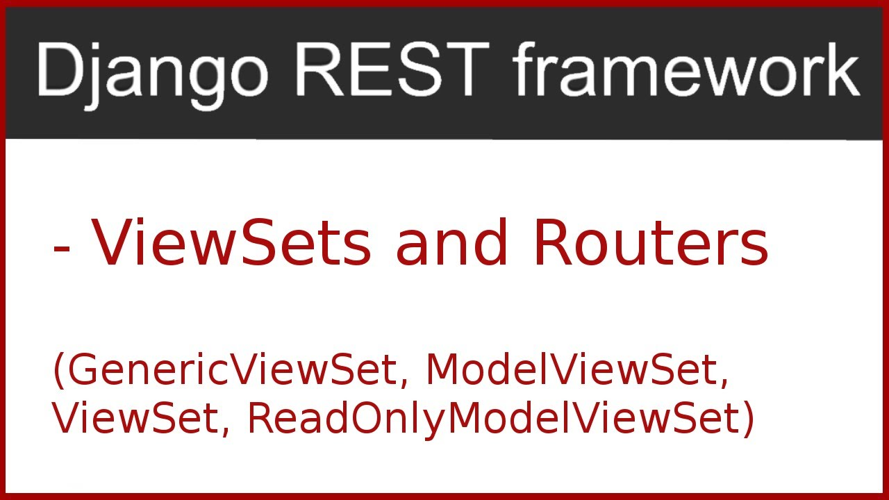 9 | ModelViewSet and Routers in Django Rest Framework | By Hardik Patel