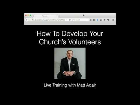 How To Develop Volunteers In Your Church