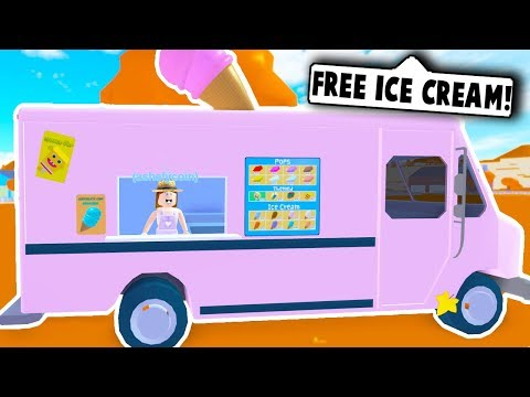 FREE ICE CREAM TRUCK BUSINESS! (Roblox Roleplay)
