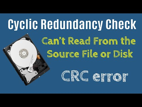 Fix Data Error Cyclic Redundancy Check CRC, Can't Read From The Source File Or Disk Corrupted Disk