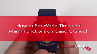 how to set world time alarms on casio g shock watches