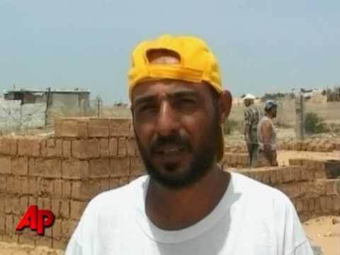 Palestinians Rebuild in Mud, Nothing Else Around