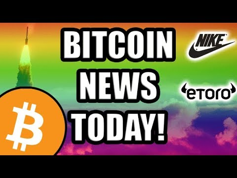 Bitcoin News Today! Nike Getting Into Crypto! eToro Offering BTC & ETH? India Banning Crypto