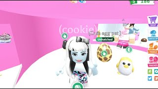 Monster High Abbey Bominable chases a crazy gold penguin out of the ice cream shop I Adopt me Roblox