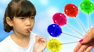 Learn Colors for Kids With Candy Giant Lollipops Children Toddlers Finger Family Nursery Rhyme Songs