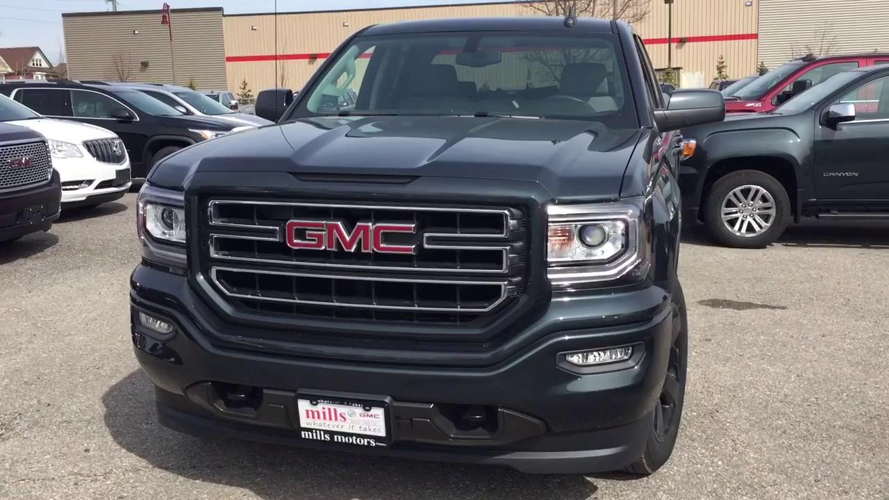 2017 Gmc Sierra 1500 4wd Double Cab 20 Wheels Tonneau Cover Black Oshawa On Stock 1711157 Youtube