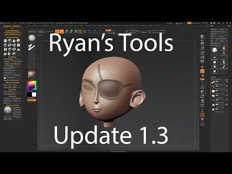 Ryan Kittleson releases Ryan's Tools 1 3 for ZBrush | CG Channel