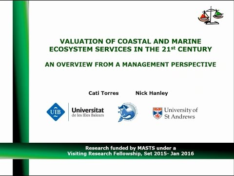 Valuation of coastal and marine ecosystem services: Dr Cati Torres