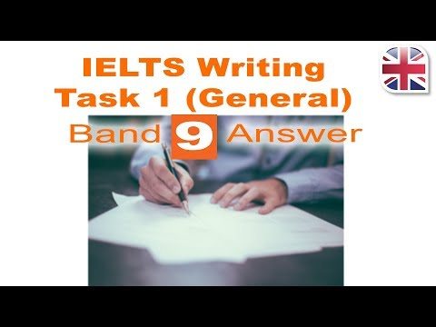 IELTS Writing Task 1 General Write a Band 9 Answer