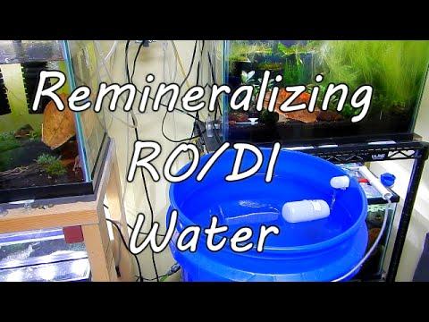 Remineralizing RO DI Water
