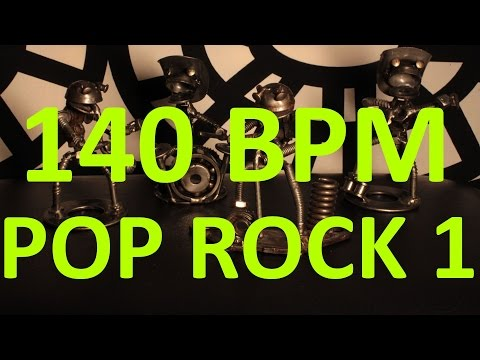 140 BPM - Pop Rock - 4/4 Drum Track - Metronome - Drum Beat
