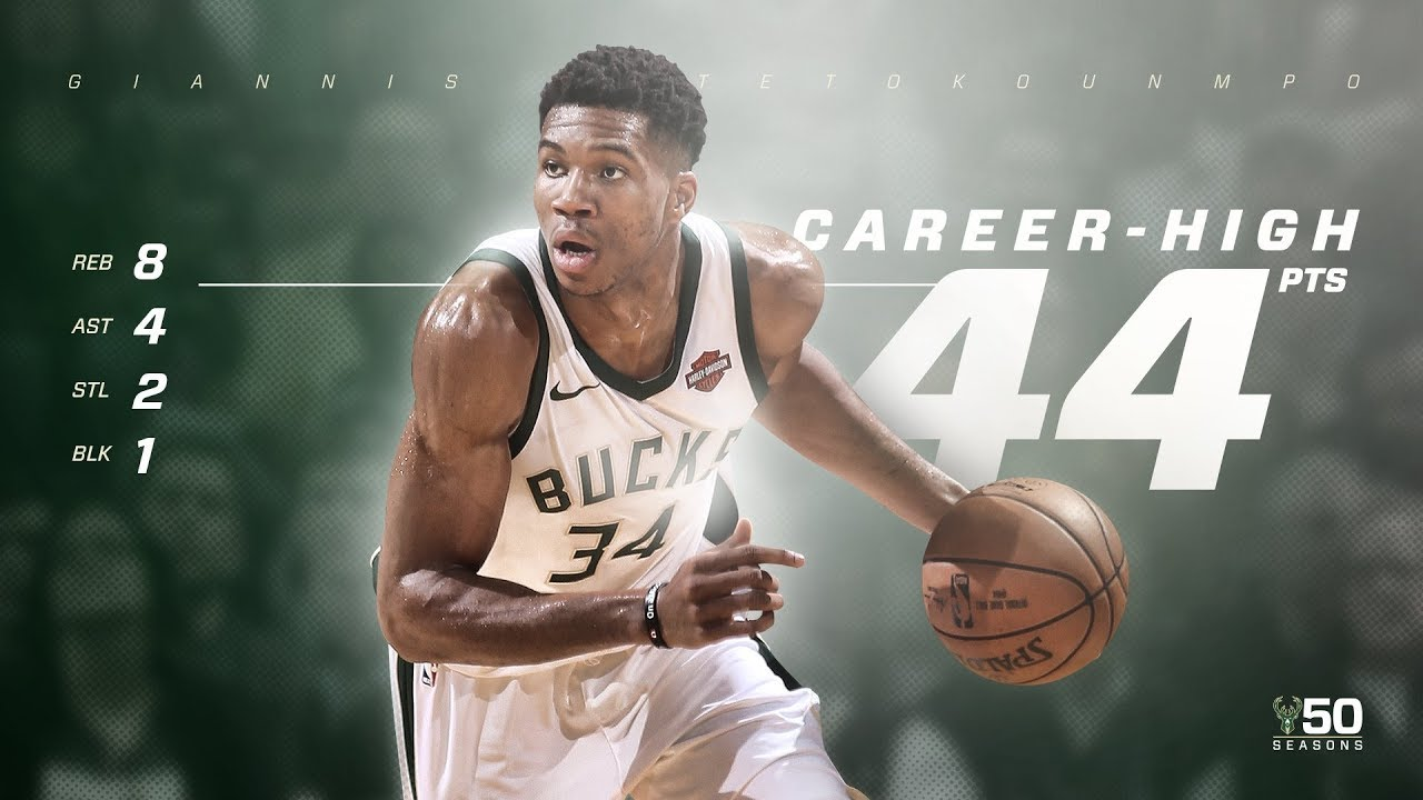 giannis-antetokounmpo-career-high-44-points-dedicates-game-to-dad-blazers-vs-bucks-2017-18-season