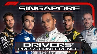 2019 Singapore Grand Prix: Pre-Race Press Conference